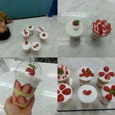 아동요리 수업~~~~ 단수로 힘들었지만 멋진 작품을 만든 저학년 친구들^^ 딸기보틀케이크!! #cake#cup cake #bottle cake#kids cooking #딸기케이크#컵케이크 #방과후수업#아동요리