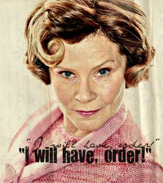 Least favourite female character? Umbridge! Do I have to explain? But Lavender Brown and Rita Skeeter are close too.