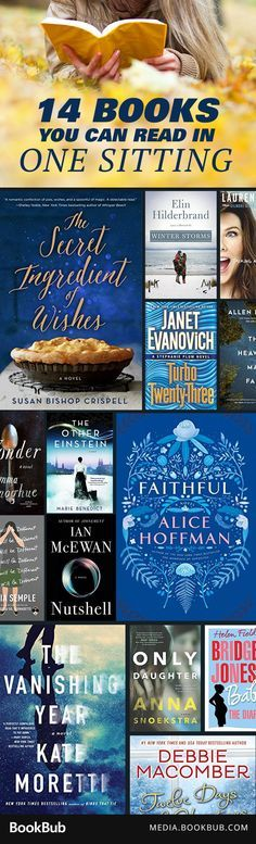 These books are perfect to read during a long car ride, weekend vacation, or cozy weekend.