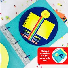 Kids Notebook Page for TinyFeats Quiet Book - Educational Travel Toy for Toddler and Preschool Kids Montessori Activities, Toddler Activities, Time Activities, Toddler Fun, Toddler Toys, Travel Toys For Toddlers, Felt Books, Quiet Books, Best Kids Toys