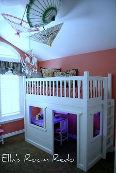 This is a great idea for a girl's room but you could easily convert the concept for a boy's room as well.