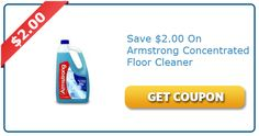 Save $2.00 on Armstrong Concentrated Floor Cleaner
