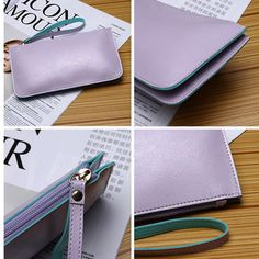 Women Ultrathin Card Holder Wallets Purse Wristlet Wallet Purse Card Bag