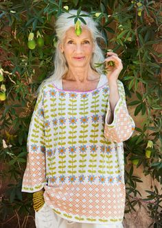 """""""Alice"""" cotton sweater – East – among the greenery at La Manufacture – GUDRUN SJÖDÉN – Webshop, mail order and boutiques 