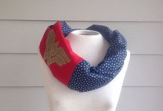 Hey, I found this really awesome Etsy listing at https://www.etsy.com/listing/178076713/handmade-wonder-woman-infinity-scarf