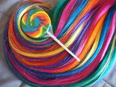 Lizzi's Lox Rainbow Hair Extensions // Clip-in Unicorn Hair