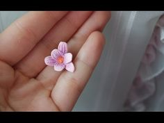 DIY Polymer clay Tutorial Romantic Flower ❀ - YouTube
