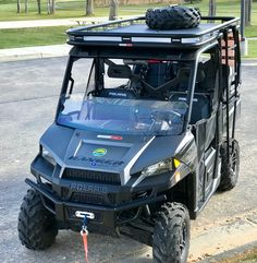 Cryptocage introduces the Kong Cage for the Polaris Ranger 900 and The Kong Cage has a cab-over design that features a long upper platform, safari rack, reinforced roof, HD diamond plate deck and a side ladder. Duck Hunting, Archery Hunting, Polaris Off Road, 2019 Ranger, Utv Accessories, Polaris Ranger Crew, Bone Stock, Cab Over, Polaris Rzr