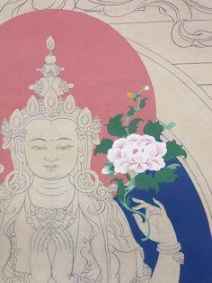 Chenrezig's flowers come to life. https://www.facebook.com/TibetanArt/photos/a.635846146448376.1073741831.146302955402700/790769740956015/?type=1&theater
