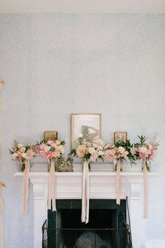 Pretty bridesmaid bouquets: http://www.stylemepretty.com/massachusetts-weddings/gloucester/2016/02/19/rustic-elegant-sharksmouth-estate-summer-wedding/   Photography: Hello Love - http://hellolovephoto.com/