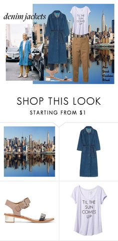 """Denim Jackets are Back in NYC"" by muirgheal ❤ liked on Polyvore featuring M.i.h Jeans, Sam Edelman, Banana Republic, Marni and denimjackets"