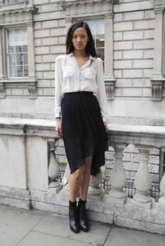 The white blouse: a wardrobe staple! For some inspiration on how to wear it, check out my blog: http://dresslikeaparisian.com/how-to-wear-the-blouse/