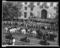 Pres. Franklin Delano Roosevelt's funeral cortege in Washington, D.C.