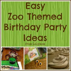 Easy Zoo Themed Birthday Party Ideas from Lalymom
