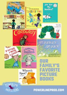 Our Family's Favorite Picture Books – Powerline Productions --Meredith Curtis Sweet Stories, Cute Stories, Don Freeman, Are You My Mother, Economics Lessons, Little Engine That Could, Margaret Wise Brown, Little Blue Trucks, Little Girl Gifts