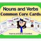 Nouns and Verbs Common Core Task Cards is a book filled with cards that you can use to create fun activities.  They can be used in your language ar...