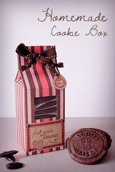 DIY Une boîte et une recette de gâteaux fabuleux