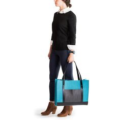 Classic Tote | Office or park, tablet or tablecloth - a sturdy, full-size wool felt tote with leather accents for every day of the week.