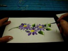 One Stroke Painted Vines and Daisys- By DJ Creations (Beautiful and worth trying)