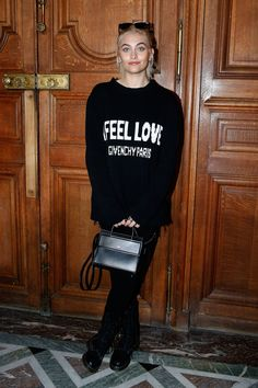WHO: Paris Jackson WHAT: Givenchy WHERE: At the Givenchy men's Fall 2017 show, Paris WHEN: January 20, 2017 Photo: Getty Images