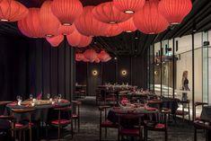 Lantern Bar, Lantern Pendant, Phoenix Restaurants, Calcutta Marble, Velvet Lounge, Timber Panelling, Private Dining Room, Marble Wall, Chinese Lanterns