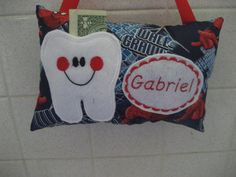 Tooth Fairy Pillow Spider man print fabric which can be by 4Brig, $12.50