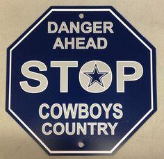 Dallas Cowboys Stop Sign Room Bar Decor New NFL 12x12