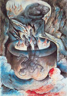 William Blake (1825-1827).  Ilustración para La Divina Comedia.