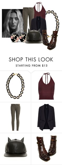 """""""Untitled #10580"""" by pocahaunted666 ❤ liked on Polyvore featuring Ashley Pittman, River Island, 7 For All Mankind, Manon Baptiste and Ralph Lauren"""