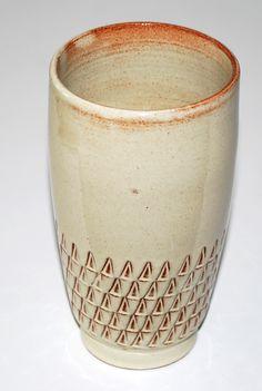 Jens Harald Quistgaard, vase in hardfired earthenware. Denmark.