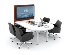 Interactive collaboration table. Like the technology, don't like the furniture.....