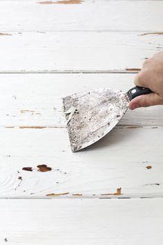 distressed paint technique - backdrop for photos