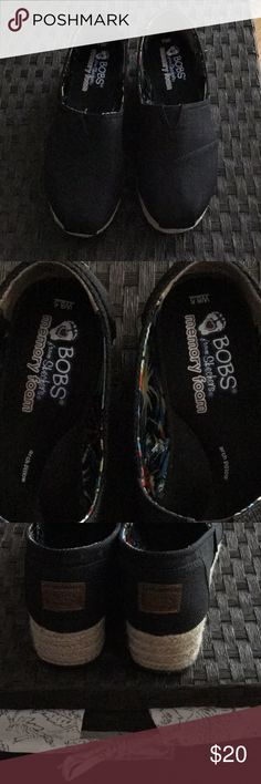 Bob's by Skechers black espadrilles Worn a few times es. Super clean. Very comfy. No wear or stains. No box Skechers Shoes Espadrilles