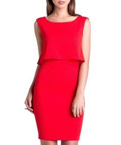 Chloe red layer dress Sale - UNIQUE 21 Sale