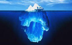 Deep Blue Ocean & Ice Berg wallpapers