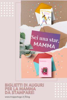 Su Blog di Troppotogo trovate 6 biglietti di auguri da stampare gratuitamente e regalare alla mamma! Per il suo compleanno, la Festa della Mamma o tante altre occasioni. #faidate #DIY #printable #gratis #biglietti #auguri #frasi #mamma #mum #mothersday #idee #originali #regalo Books, Libros, Book, Book Illustrations, Libri