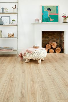 This beautiful pale blonde wood-effect floor offers great value for money. This beautiful pale blonde wood-effect floor offers great value for money. Jane Hueber jhueber For the Home This beautiful […] Flooring living room White Wood Laminate Flooring, Diy Wood Floors, White Oak Floors, Timber Flooring, Hardwood Floors, Painted Floors, Concrete Floors, Concrete Countertops, Vinyl Flooring