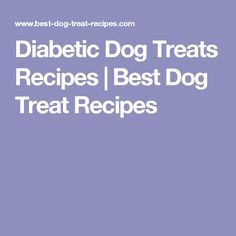 Diabetic Dog Treats Recipes | Best Dog Treat Recipes