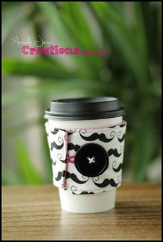 Coffee Cup Sleeve Cozy on Etsy, $5.00