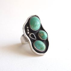 Sterling and Turquoise Ring Native American Navajo