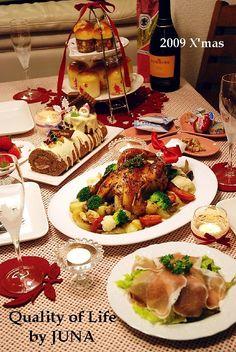 クリスマスディナー Xmas Food, Holiday Dinner, Food Festival, Christmas Goodies, No Cook Meals, Food Photo, Food And Drink, Cooking, Ethnic Recipes
