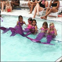 I think it's safe to say that these mermaids love Jia's Asian Magenta mermaid tail! Check out our newest coloring page featuring Mermaiden Jia at FinFriends.com. Thanks for the wonderful picture @sciarrasnest! #FinFun #Mermaid #FinFunMermaid