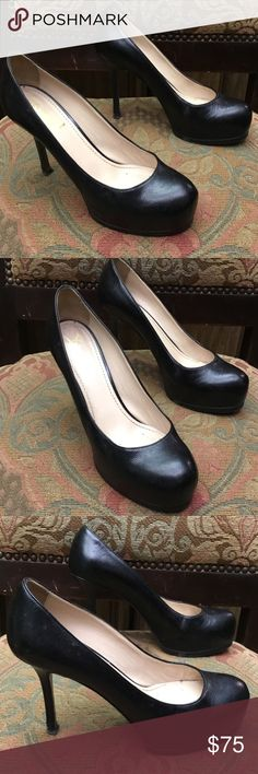 Yves Saint Laurent black tribute Pumps size 38 Yves Saint Laurent shoes in preowned condition please see the scuffs on the heels selling as I'd Size 38 Yves Saint Laurent Shoes Heels
