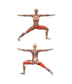 #VIRABHADRASANA Warrior pose, left leg bent | YOGA.com