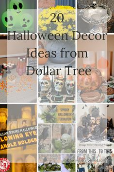 Tutorial Latest 20 Halloween Decor Ideas from Dollar Tree - Farm Girl Reformed Dollar Tree Halloween, Halloween Village, Halloween Crafts, Halloween Ideas, Holiday Crafts, Halloween Stuff, Fall Crafts, Happy Halloween, Holiday Ideas