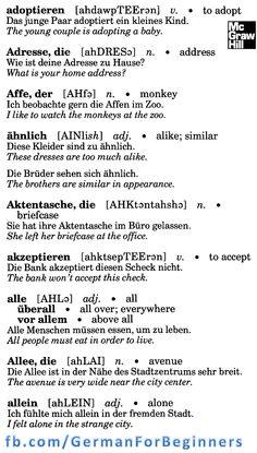 German For Beginners: 3 German Language Learning, Language Study, Learn A New Language, Foreign Language, German Dictionary, Language Dictionary, German Grammar, German Words, Learn German