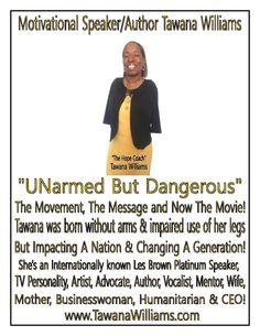 "Need a Speaker? Call ""The Hope Coach""-Tawana Williams @ 252-291-6081 or visit www.TawanaWilliams.com #TheHopeCoach"