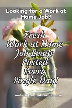 WorkatHomeMomRevolution.com Looking for a Work at Home Job? Fresh Work from Home Job Leads Posted Every Single Day! Don't Miss the Latest Home-Based Job Leads! You Can Make Money from Home!
