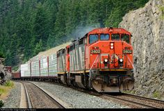 RailPictures.Net Photo: CN 2402 Canadian National Railway GE C40-8M (Dash 8-40CM) at Jasper, Alberta, Canada by Tim Stevens