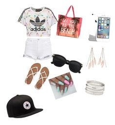 """A day on the beach"" by rinadedvukaj ❤ liked on Polyvore featuring adidas Originals, Charlotte Russe, Billabong and Converse"